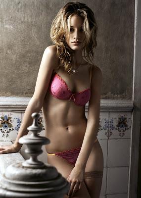 Linda Vojtova in lingerie