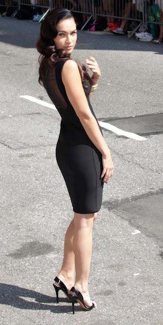 Megan Fox in a sexy black dress