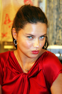 Adriana Lima in red