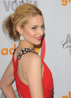 Dianna Agron looks hot in red
