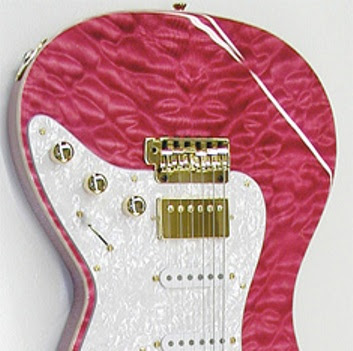 Grosh Bent Top Trans-Pink Guitar