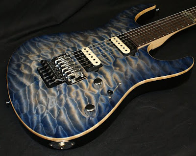 Suhr Whale Blue Burst Top