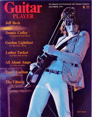 Jeff Beck Guitar Player Cover Dec. 73