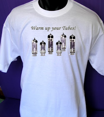 Tubes T Shirt for Guitar Players Stratocaster Guitar