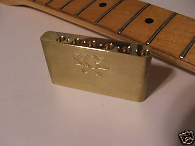 KGH Brass Strat Trem Block