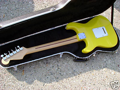 Yellow Stratocaster