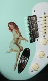 Vintage Bomber Pin-Up Girl Guitar Decal