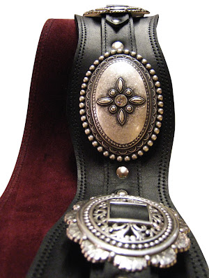 Heavy Leather NYC Concho Guitar Strap