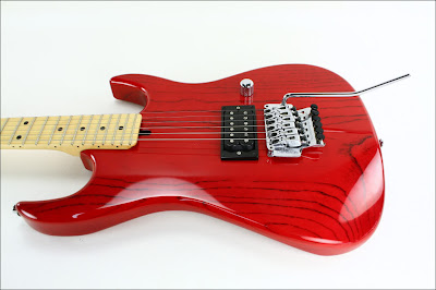 John Carruthers Custom Trans-Red Guitar