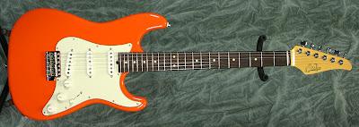 Suhr Scott Henderson Fiesta Orange Guitar