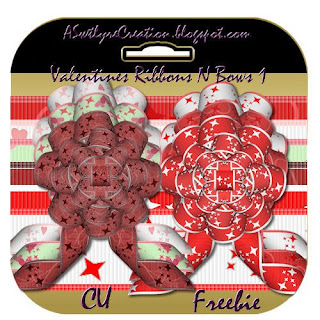 Valentines Ribbons N Bows - By: ASwtlyreCreations Preview
