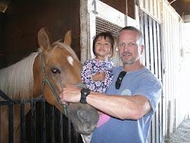 horse barns at the fair!