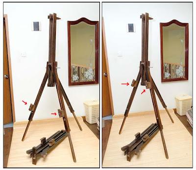 Ukuran bingkai maksimal yang bisa dipasang di stand ini 120cm x 60cm