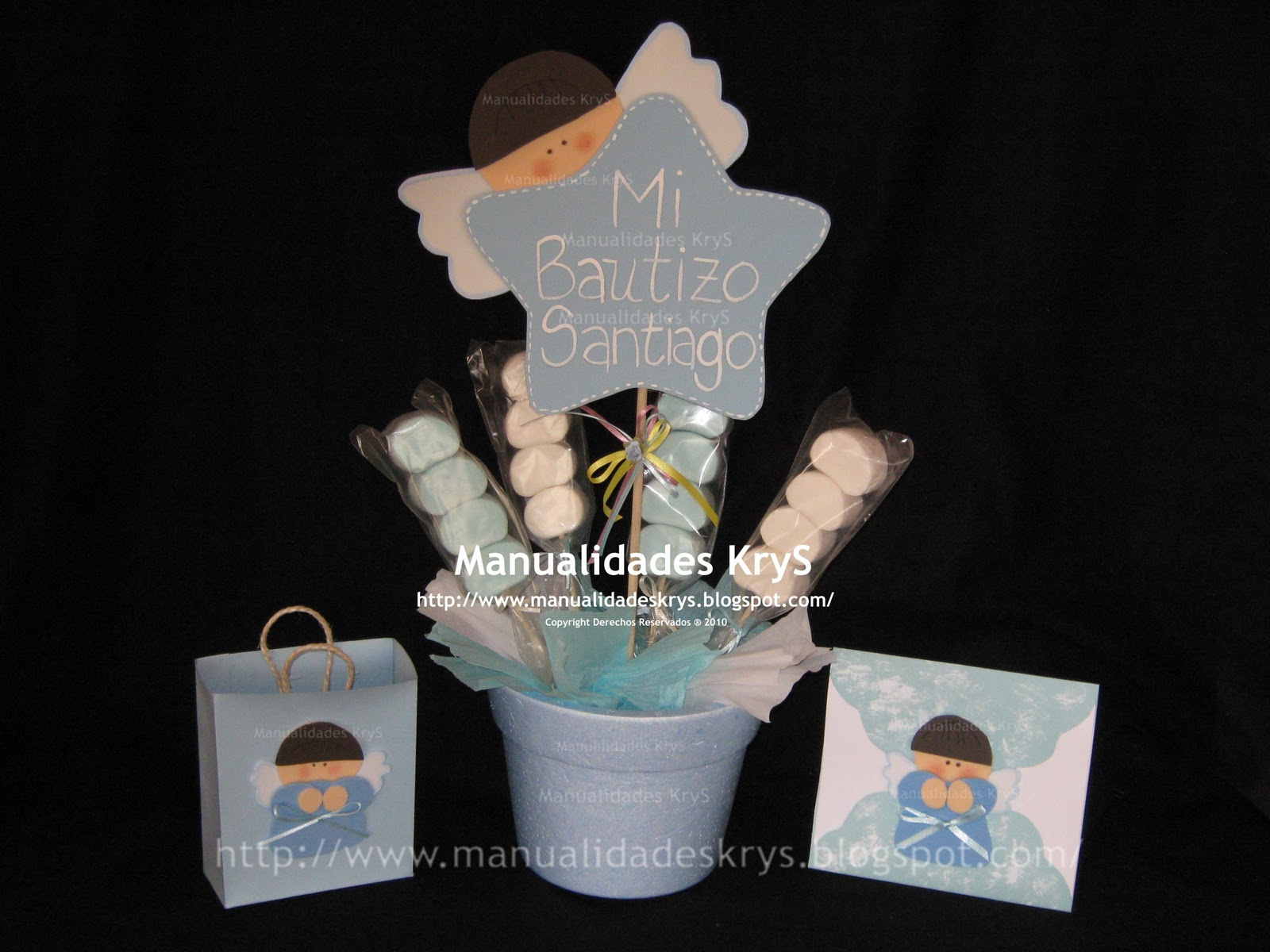 Manualidades krys baby shower y bautizo share the knownledge - Manualidades centro de mesa ...