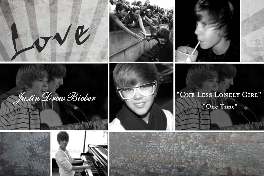 """Image: Wallpaper. Justin Bieber from popular song """"One Less Lonely Girl""""."""