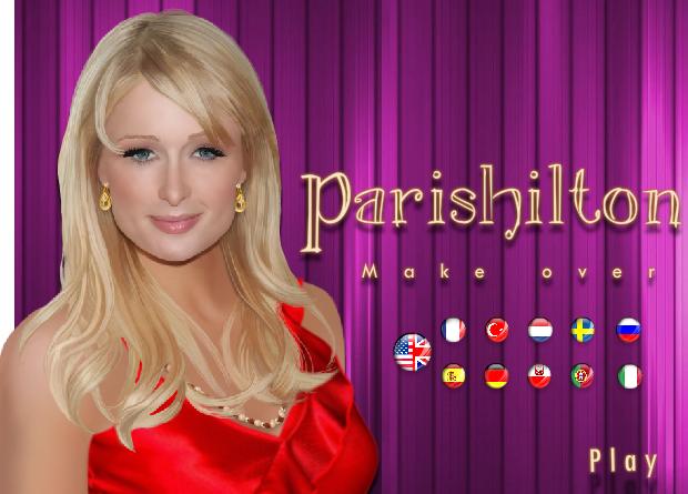 y8,y8games,mini game - Cute Paris Hilton Makeover