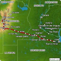 Rutas desde Bs Aires a Traslasierra