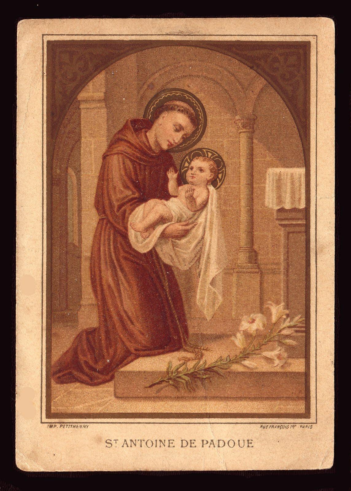 13 giugno: Sant'Antonio da Padova dans immagini sacre St.+Anthony
