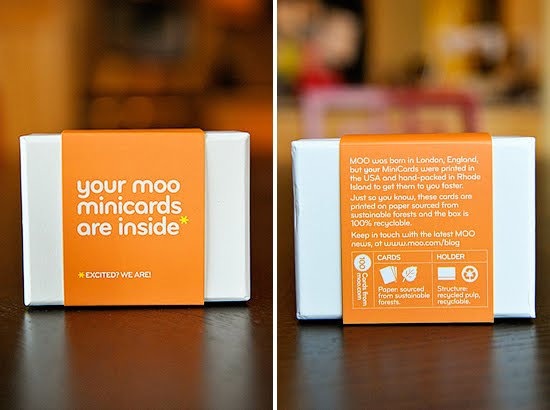 Yes, I am excited! The Moo MiniCards are here!