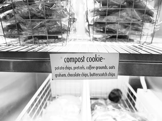 Compost cookie in display