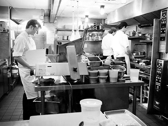 Where the magic happens - Momofuku Ssäm Bar kitchen