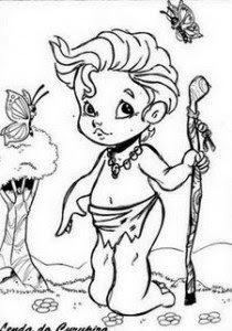 folclore curupira 210x300 FOLCLORE Desenhos para pintar para crianças