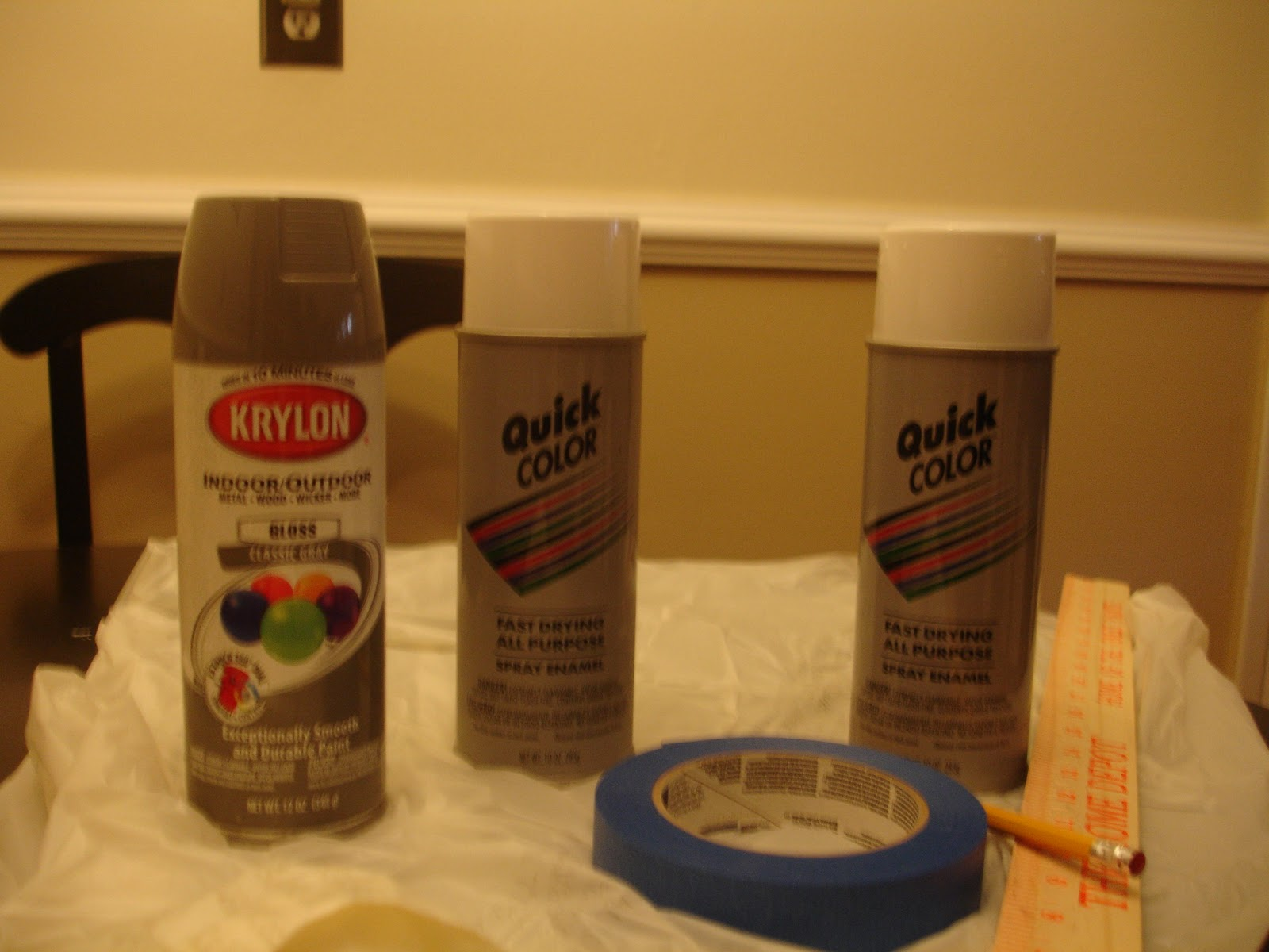 before heading home i picked up a few cans of spray paint and some. Black Bedroom Furniture Sets. Home Design Ideas