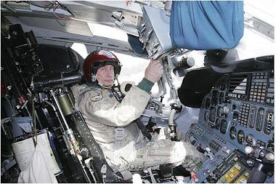 Vladimir Putin in a TU-160 Bomber