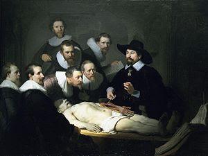 Rembrandt Anatomy Lesson of Dr Pulp image