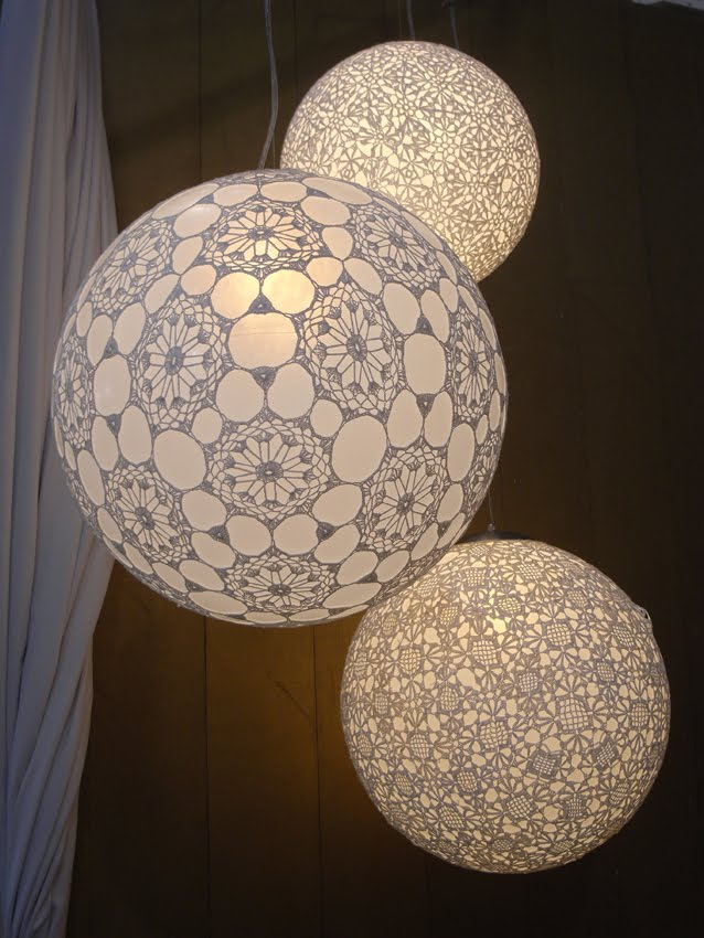 Free Pattern Crochet Lampshade : Made in Favela : Crochet Lampshades originalslope