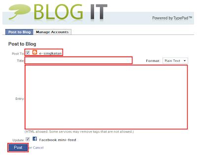 Menulis dan Menerbitkan Artikel Blog via Facebook