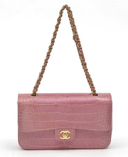 Chanel Pink Alligator 2.55 Bag