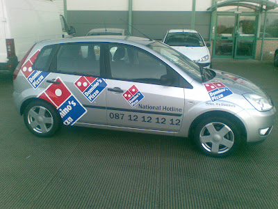 Domino's Pizza Car