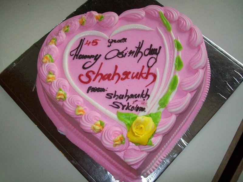 My Name Is ShahRukh Khan SRK Birthday Cake ShahRukhSRKcom