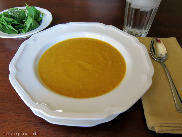 Butternut Squash and Carrot Soup  - recipe at madiganmade.com