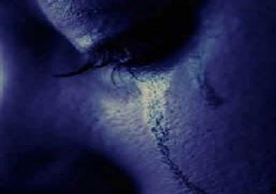 llanto triste y azul