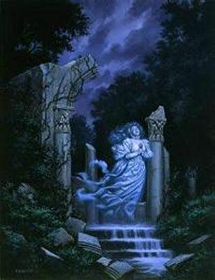 fantasma de mujer llorando