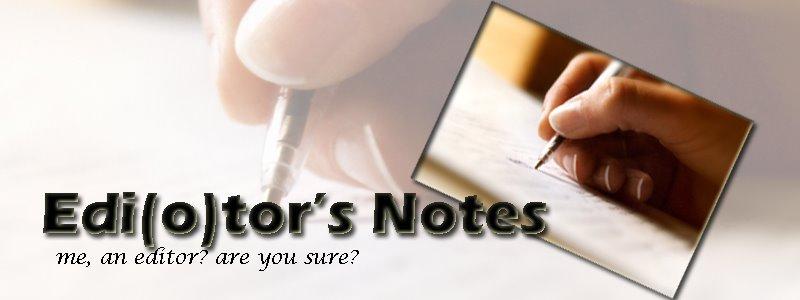 EDI(o)TOR's NOTES