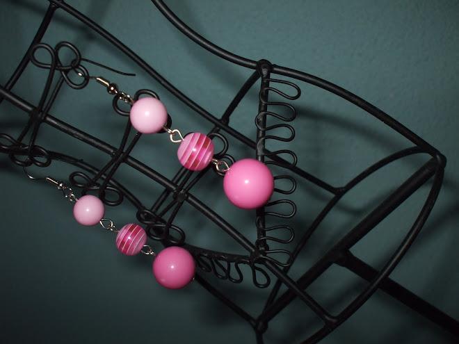 cercei roz 15 lei