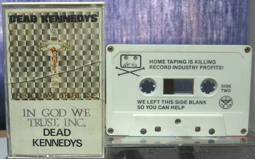 Dead Kennedys- We left this side blank so you can help