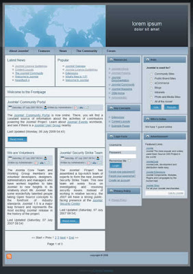 joomla 1.5 news portal template