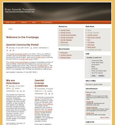 joomla 1.5 business template