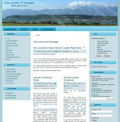 three column joomla 1.5 website template