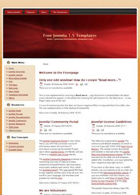 two column Joomla 1.5 template