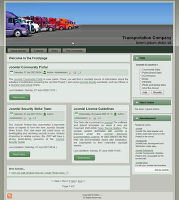 transportation company joomla website template