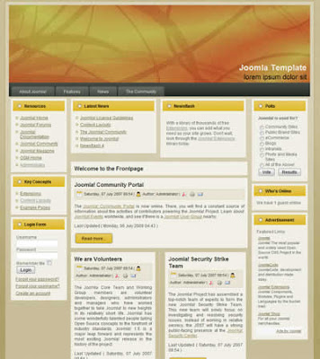 business joomla template orange