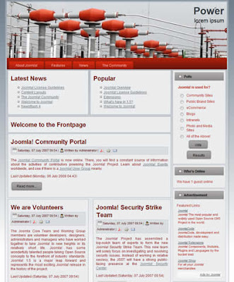 free joomla business template two column