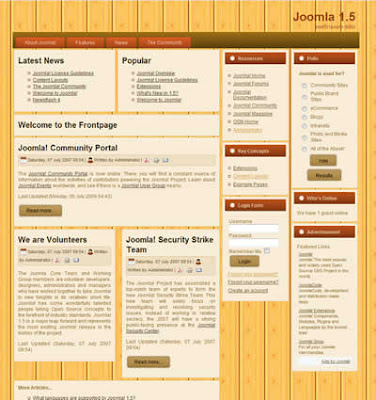 business joomla 1.5 template with wooden background
