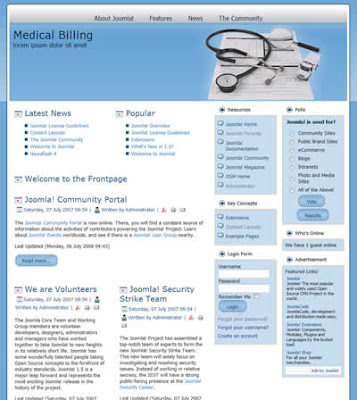 joomla template medical
