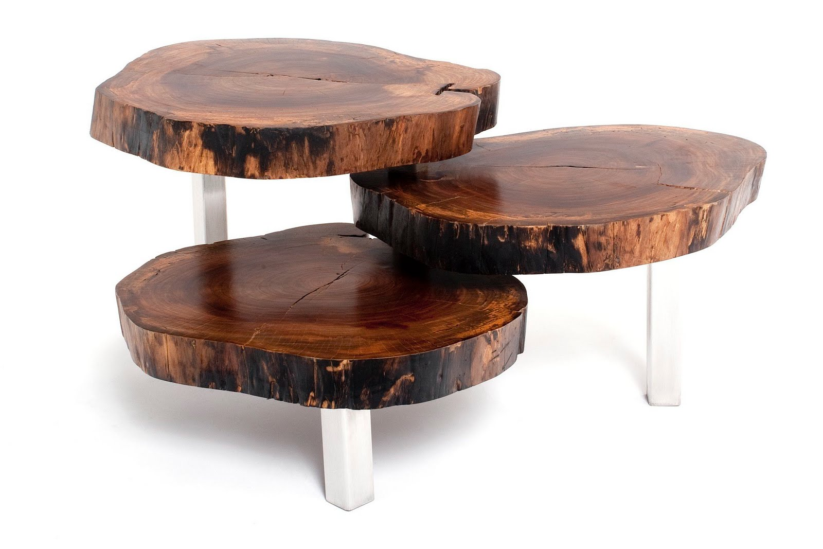 Eco friendly exotic wood tables globally gorgeous for Wooden coffee tables images